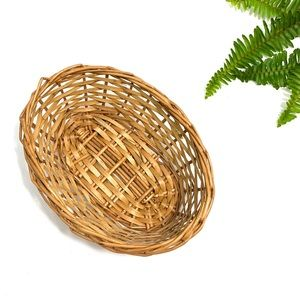 vintage small wicker basket catch all